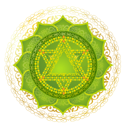 Heart Chakra Green Emerald Mandala