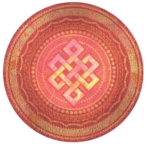 Interconnectedness is demonstrated in this buddhist infinity knot